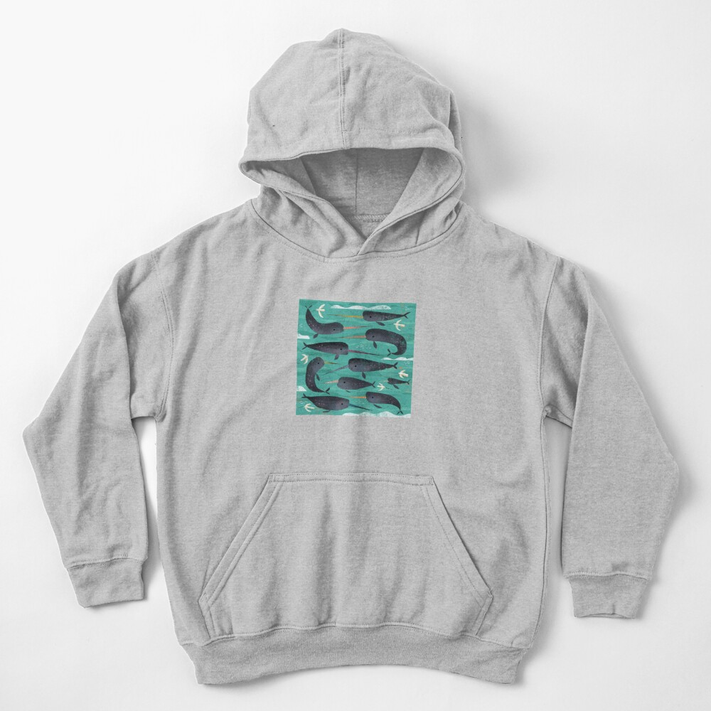Narwhals and Narbirds Kids Pullover Hoodie
