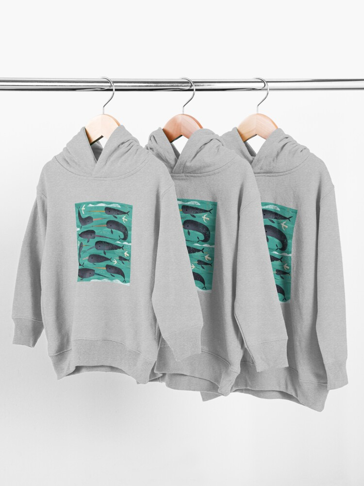 Alternate view of Narwhals and Narbirds Toddler Pullover Hoodie