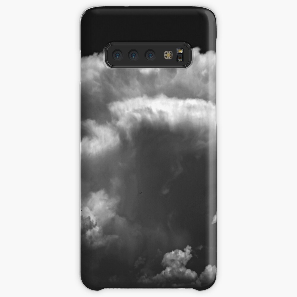 Anvil shaped cloud in black and white Case & Skin for Samsung Galaxy