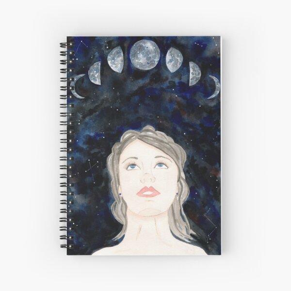 Star Gazer - Moon Goddess - galaxy watercolour Spiral Notebook