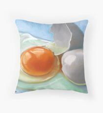 an egg Throw Pillow