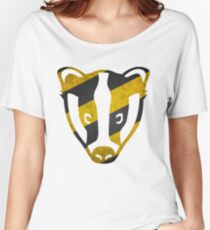 Badger - Yellow & Black Stripes Women's Relaxed Fit T-Shirt