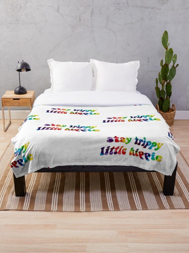 Tie Dye Fleece Blanket Throw Cool Unique Hippie Gift