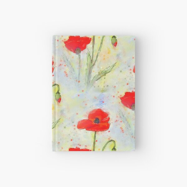 Poppy Meadow Floral Design Hardcover Journal