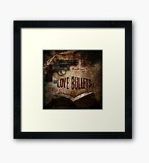 Love Bullets: Cover page Framed Print