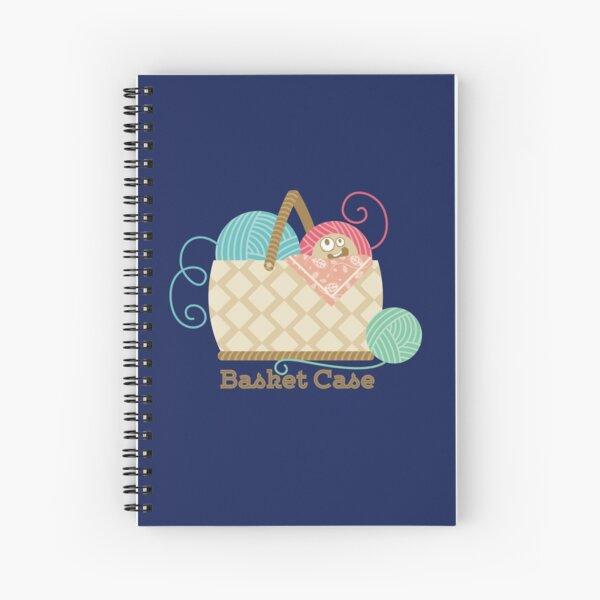 Funny knitting crochet yarn basket case Spiral Notebook