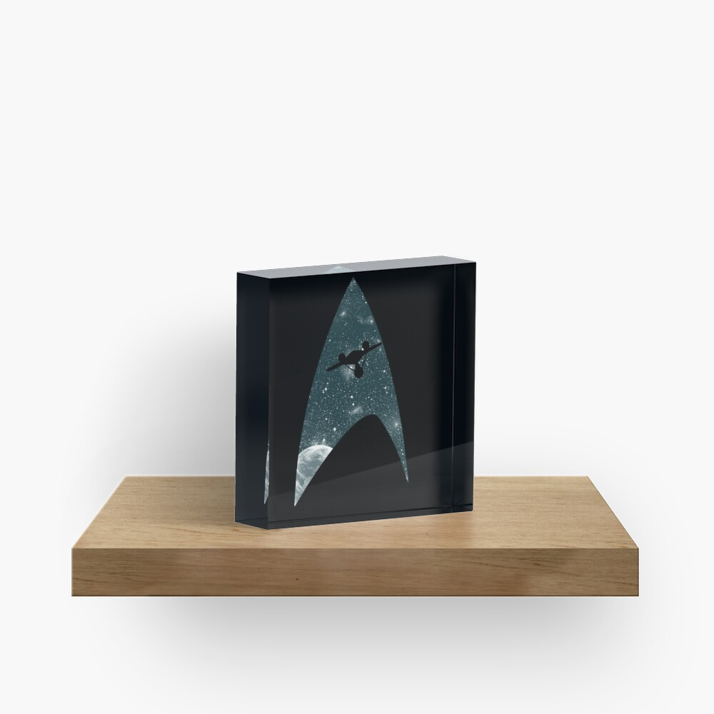 Space the final frontier Acrylic Block