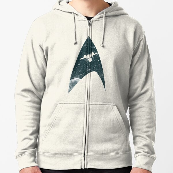 Space the final frontier Zipped Hoodie