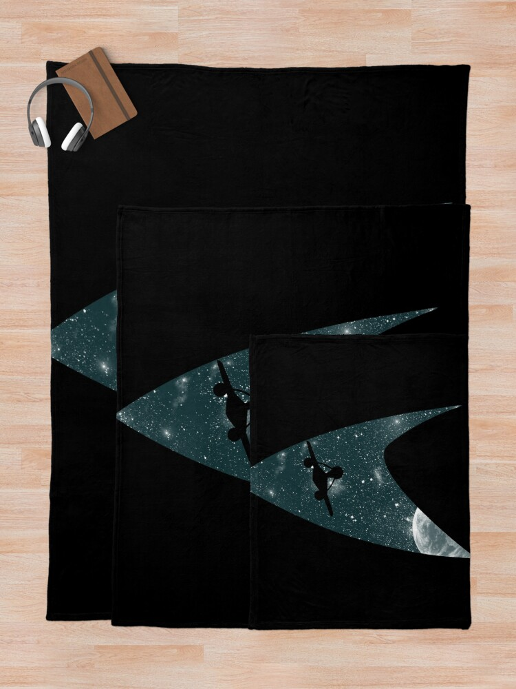 Alternate view of Space the final frontier Throw Blanket