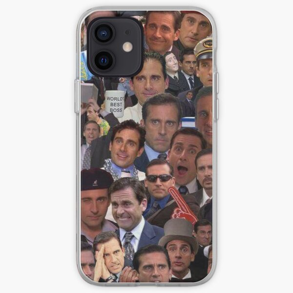 The Faces of Michael Scott iPhone Soft Case