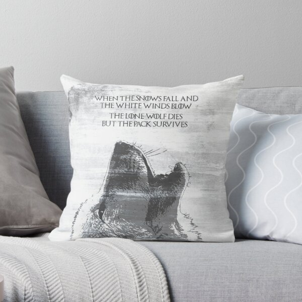 The Lone Wolf Dies But The Pack Survives Throw Pillow