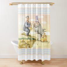 balance social problem Shower Curtain