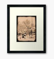 Winter Woodstock, New York Framed Print