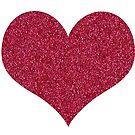 Imitat-Glitter-Rosa-Herz von ValeriesGallery