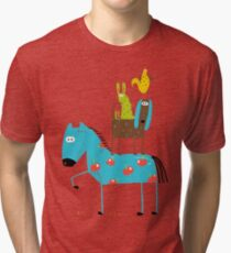 Farm Animal Pile Tri-blend T-Shirt