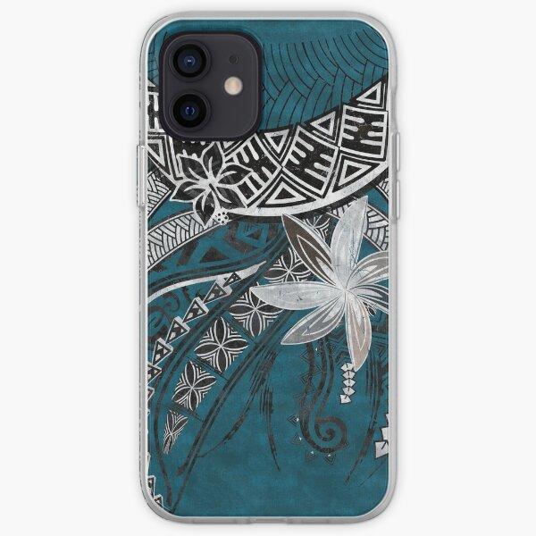 Blue Hawaii Polynesian Tribal Threads iPhone Soft Case
