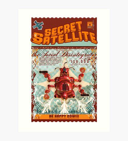 The Secret Satellite Mail Order Flyer #6 Art Print