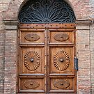 Old door in Città della Pieve, Tuscany, Italy by revealedrome