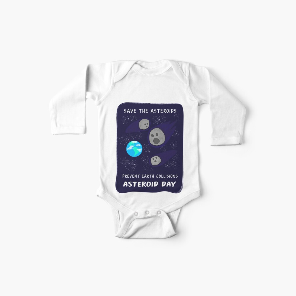 Save the Asteroids Baby One-Pieces