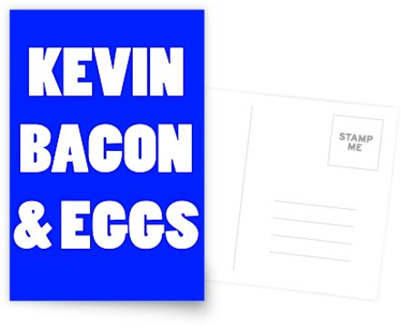 80s kevin bacon and eggs geek funny nerd by katabudi