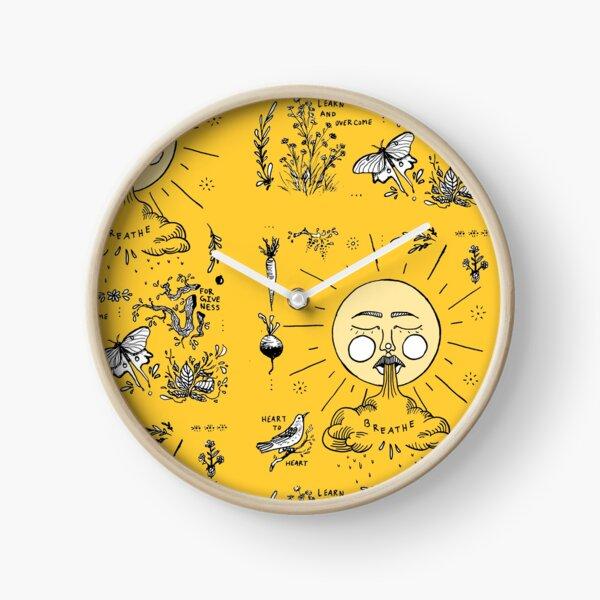 Yellow Nature Clock