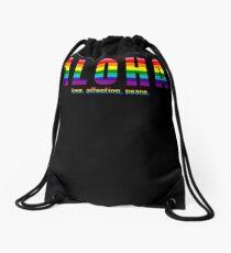 Aloha - Hawaiian Word Greeting and Love Affection Peace Pride Rainbow Drawstring Bag