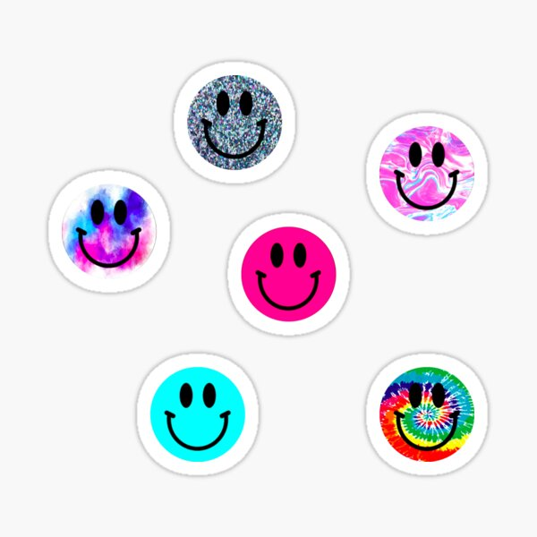 Smiley Faces Sticker