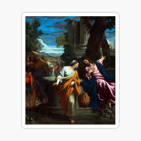 Annibale Carracci Christ and the Samaritan Woman Sticker