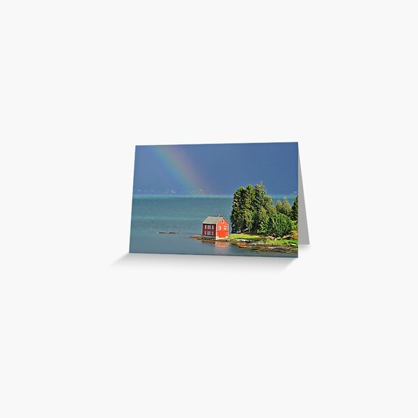 House by the Fjord Greeting Card
