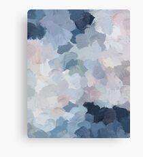 Navy Indigo Gray Blue Blush Pink Lavender Abstract Art Modern Painting Canvas Print