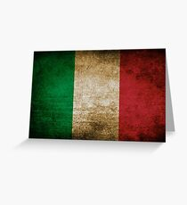 Vintage Grunge Italian Flag Greeting Card