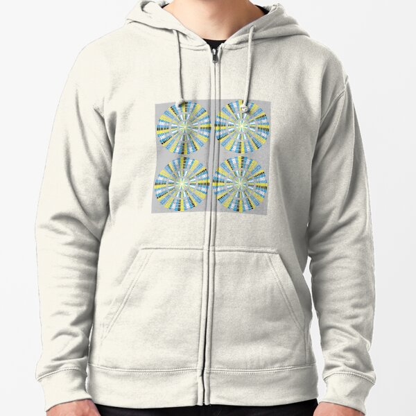 #Pattern, #abstract, #design, #fashion, decoration, repetition, color image,  geometric shape Zipped Hoodie