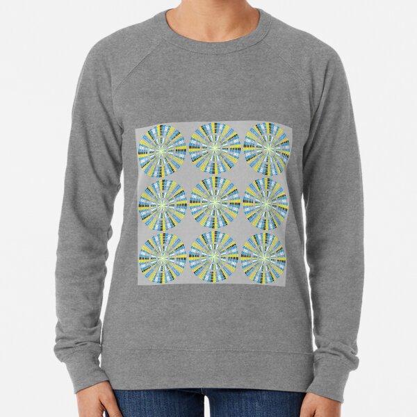 #Pattern, #abstract, #design, #fashion, decoration, repetition, color image,  geometric shape Lightweight Sweatshirt
