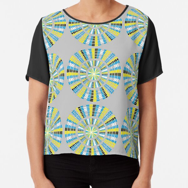 #Pattern, #abstract, #design, #fashion, decoration, repetition, color image,  geometric shape Chiffon Top