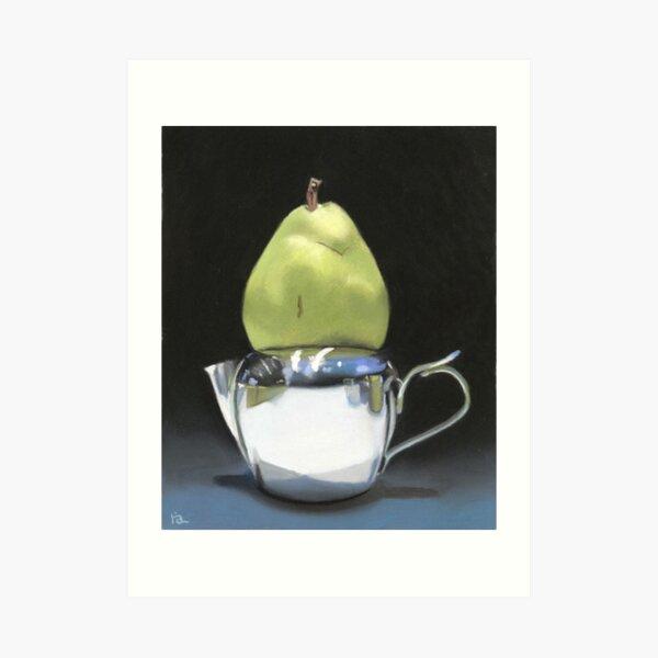 pear and milk pitcher Art Print