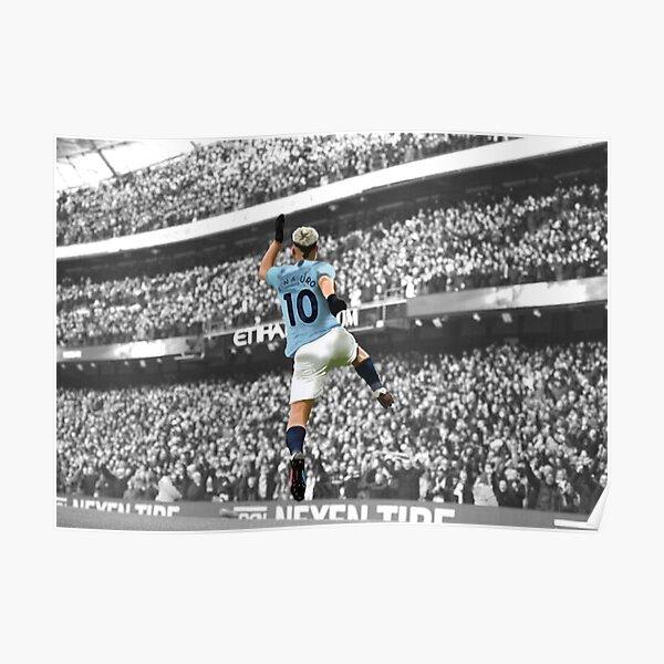 Sergio Agüero del Manchester City Póster