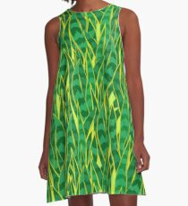 Snake Plant Jungle A-Line Dress