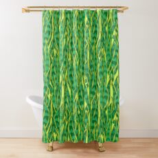 Snake Plant Jungle Shower Curtain