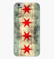 Weinlese-Schmutz-Chicago-Flagge iPhone-Hülle & Cover