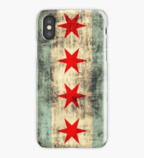 Vintage Grunge Chicago Flag iPhone Case