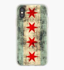 Vintage Grunge Chicago Flag iPhone Case