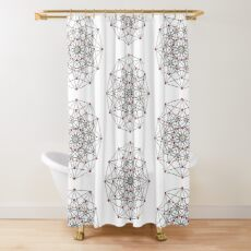 6-cube hexeract  Shower Curtain