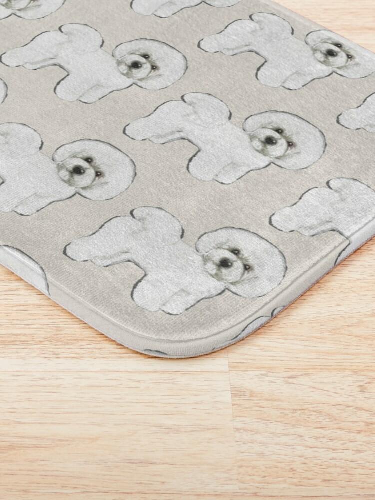 Alternate view of Bichon Frise on Cream Bath Mat