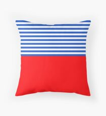 Red White and Blue Stripes  Floor Pillow
