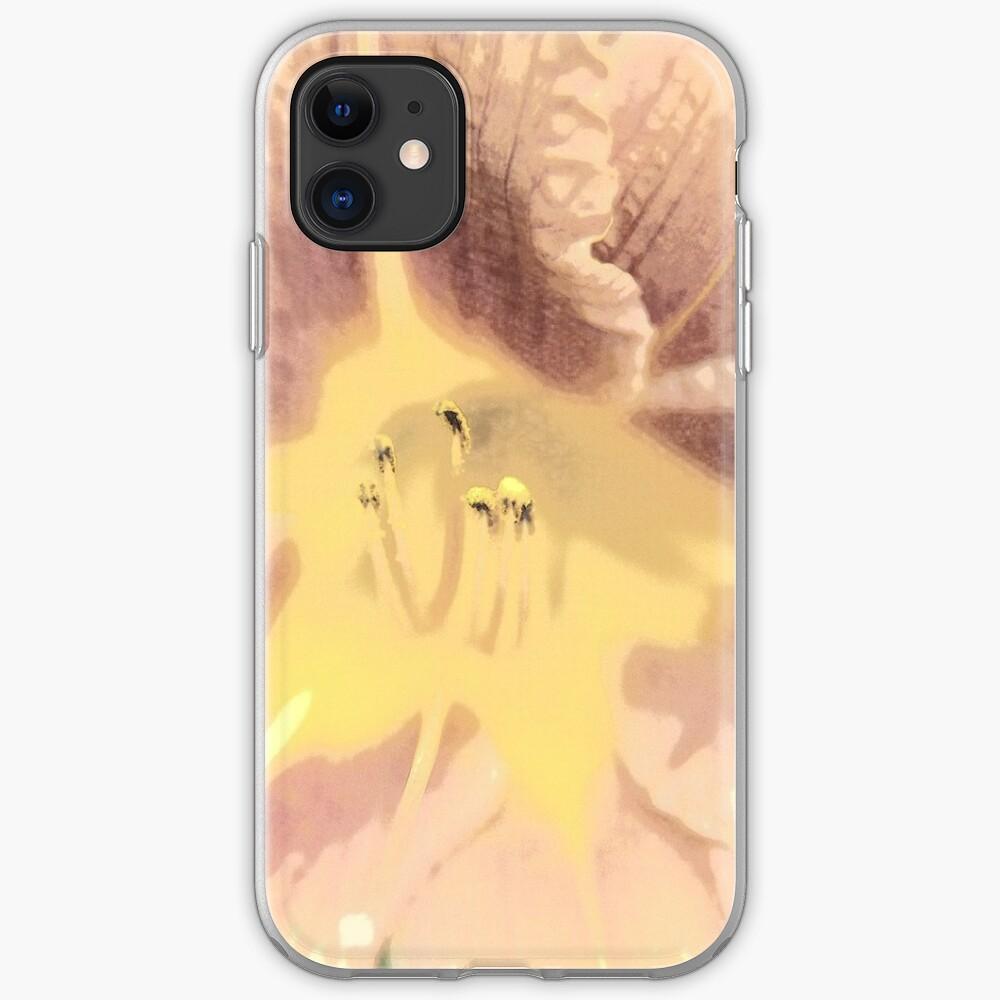 Orange asiatische Lilie Sketch1 iPhone-Hülle & Cover