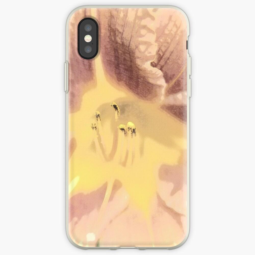 Orange asiatische Lilie Sketch1 iPhone-Hüllen & Cover