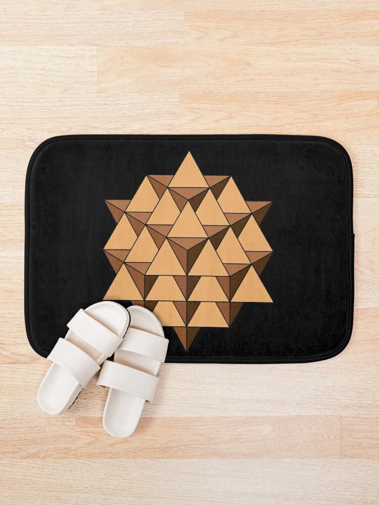Alternate view of 64 Tetrahedron 001 Bath Mat