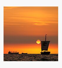 Sail into the sunset... Photographic Print