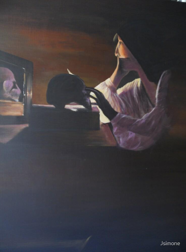 The Repentant Magdalen By Georges de La Tour by Jsimone