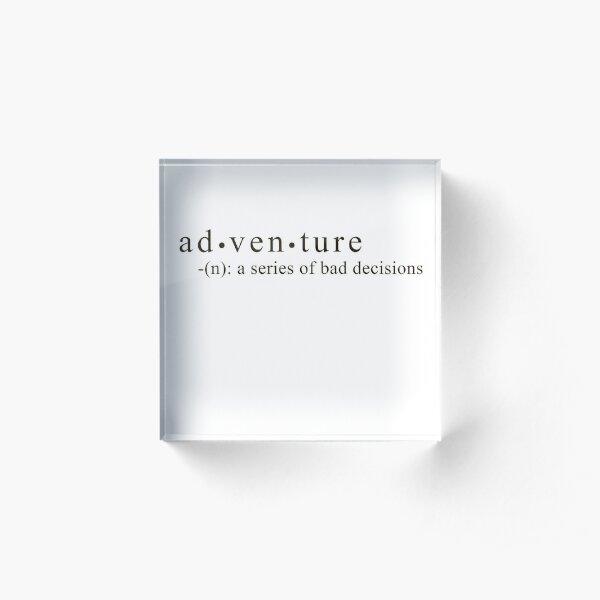 Adventure Acrylic Block